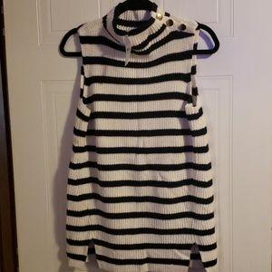 Loft sleeveless turtleneck sweater